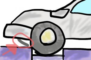 エンジンアンダーカバーが剥がれていた
