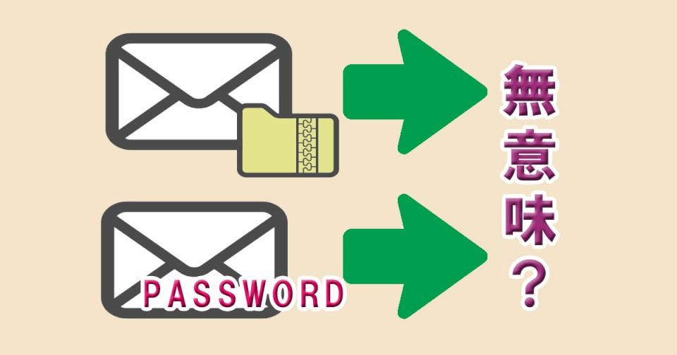 暗号化した添付ファイルと別メールでパスワードを送る
